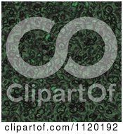 Clipart Of A 3d Seamless Green Alien Skin Texture Background 5 Royalty Free CGI Illustration