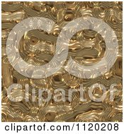 Clipart Of A 3d Seamless Gold Metal Texture Background 1 Royalty Free CGI Illustration