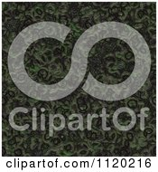 Clipart Of A 3d Seamless Green Alien Skin Texture Background 7 Royalty Free CGI Illustration