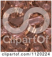 Clipart Of A 3d Seamless Copper Metal Texture Background 20 Royalty Free CGI Illustration
