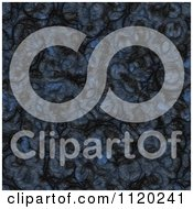 Clipart Of A 3d Seamless Blue Alien Skin Texture Background 1 Royalty Free CGI Illustration