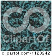 Clipart Of A 3d Seamless Blue Alien Skin Texture Background 4 Royalty Free CGI Illustration