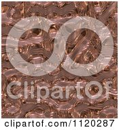 Clipart Of A 3d Seamless Copper Metal Texture Background 17 Royalty Free CGI Illustration