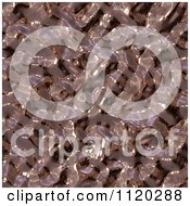 Clipart Of A 3d Seamless Copper Metal Texture Background 13 Royalty Free CGI Illustration