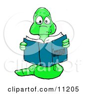 Teary Eyed Sad Bookworm Reading A Book About Compassion Clipart Illustration by Spanky Art