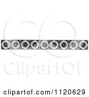 Clipart Of A Retro Vintage Black And White Sun Border Royalty Free Vector Illustration