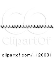 Clipart Of A Retro Vintage Black And White Floral Border 1 Royalty Free Vector Illustration