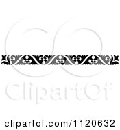 Clipart Of A Retro Vintage Black And White Border 8 Royalty Free Vector Illustration