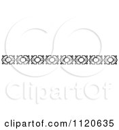 Clipart Of A Retro Vintage Black And White Border 7 Royalty Free Vector Illustration