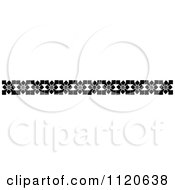 Clipart Of A Retro Vintage Black And White Border 6 Royalty Free Vector Illustration
