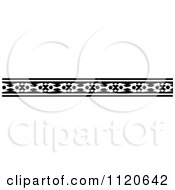 Clipart Of A Retro Vintage Black And White Border 4 Royalty Free Vector Illustration