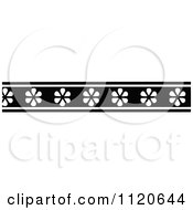 Clipart Of A Retro Vintage Black And White Border 2 Royalty Free Vector Illustration