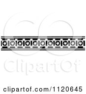 Clipart Of A Retro Vintage Black And White Star Border Royalty Free Vector Illustration