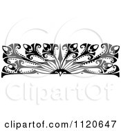Clipart Of A Retro Vintage Black And White Art Deco Border 2 Royalty Free Vector Illustration