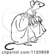 Clipart Of A Retro Vintage Black And White Mouse Lady Royalty Free Vector Illustration by Prawny Vintage
