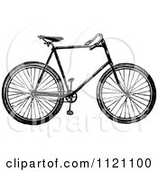 Clipart Of A Retro Vintage Black And White Bicycle 1 Royalty Free Vector Illustration by Prawny Vintage