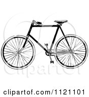 Clipart Of A Retro Vintage Black And White Bicycle 2 Royalty Free Vector Illustration by Prawny Vintage