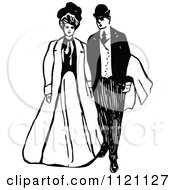 Retro Vintage Black And White Victorian Couple 2