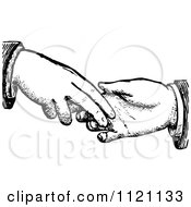 Clipart Of A Retro Vintage Black And White Dodgy Handshake 2 Royalty Free Vector Illustration by Prawny Vintage