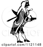 Clipart Of A Retro Vintage Black And White Actor In A Captain Uniform Royalty Free Vector Illustration by Prawny Vintage