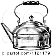 Clipart Of A Retro Vintage Black And White Tea Kettle Royalty Free Vector Illustration by Prawny Vintage