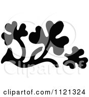 Clipart Of A Retro Vintage Black And White Leaf Design Element 4 Royalty Free Vector Illustration by Prawny Vintage
