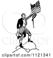 Retro Vintage Black And White Army Soldier With A Flag 4