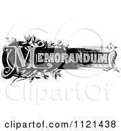 Clipart Of Retro Vintage Black And White Memorandum Text 2 Royalty Free Vector Illustration