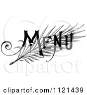 Clipart Of Retro Vintage Black And White Menu Text Royalty Free Vector Illustration