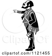 Clipart Of A Retro Vintage Black And White Hobo Man 6 Royalty Free Vector Illustration
