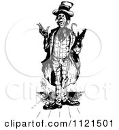 Clipart Of A Retro Vintage Black And White Confused Ragged Man Royalty Free Vector Illustration by Prawny Vintage
