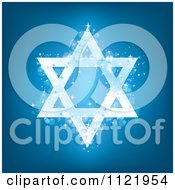 Sparkly Blue Hanukkah Star Of David