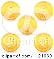 Clipart Of 3d Golden Currency Coins Royalty Free Vector Illustration