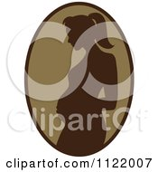 Clipart Of A Brown Pregnant Mother Silhouette Cameo Royalty Free Vector Illustration