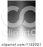 Clipart Of A Reflective Brushed Aluminum Metal Background Royalty Free CGI Illustration
