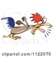 Cartoon Of A Rooster Screaming A Wake Up Call Royalty Free Vector Clipart by Ron Leishman