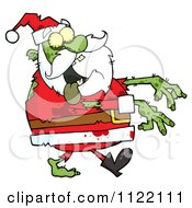 Cartoon Of A Zombie Santa Royalty Free Vector Clipart by Hit Toon
