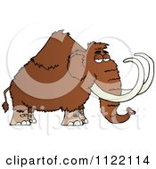 Cartoon Of A Wooly Mammoth Royalty Free Vector Clipart by Hit Toon