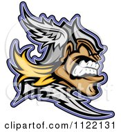 Cartoon Of An Aggressive Titan In Profile Royalty Free Vector Clipart