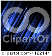 Clipart Of A Magical Blue Background With Streaks Of Light Royalty Free Vector Illustration