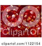 Clipart Of A Red Sparkly Bokeh Light Christmas Background Royalty Free CGI Illustration