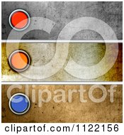 Clipart Of Grungy Button Website Banners Royalty Free CGI Illustration