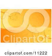 Orange And Yellow Spiraling Vortex Background Clipart Illustration