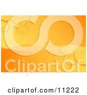 Orange And Yellow Spiraling Vortex Background Clipart Illustration by Leo Blanchette