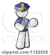 Cartoon Of A White Man Police Officer Royalty Free Vector Clipart by Leo Blanchette