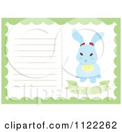 Clipart Of A Newborn Baby Frame With A Cute Bunny Royalty Free Vector Illustration by Cherie Reve