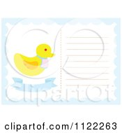 Clipart Of A Newborn Baby Frame With A Cute Duck Royalty Free Vector Illustration by Cherie Reve