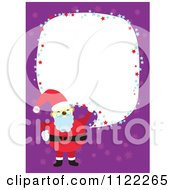 Santa Frame With Copyspace On Purple