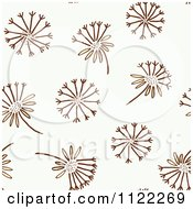 Clipart Of A Seamless Dandelion Wishy Blow Background Pattern Royalty Free Vector Illustration