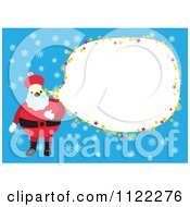 Santa Frame With Copyspace On Blue